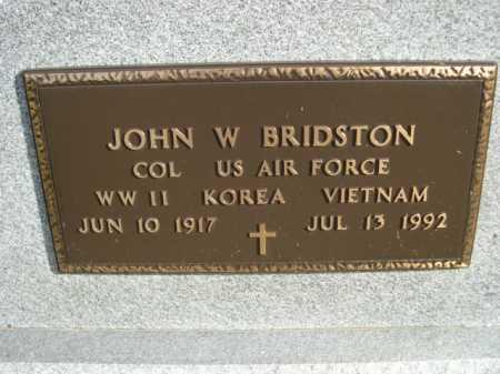 BRIDSTON, JOHN W. - Douglas County, Nebraska   JOHN W. BRIDSTON - Nebraska Gravestone Photos
