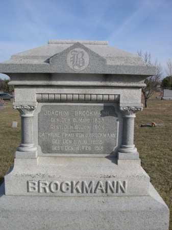 BROCKMANN, JOACHIM - Douglas County, Nebraska | JOACHIM BROCKMANN - Nebraska Gravestone Photos