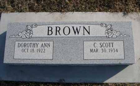 BROWN, DOROTHY ANN - Douglas County, Nebraska | DOROTHY ANN BROWN - Nebraska Gravestone Photos