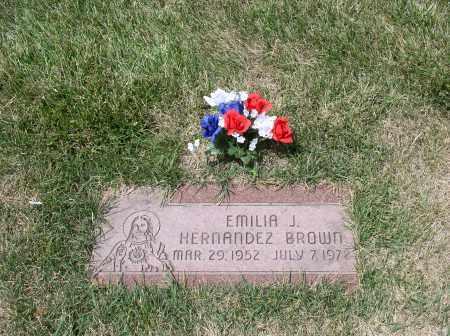 BROWN, EMILIA - Douglas County, Nebraska | EMILIA BROWN - Nebraska Gravestone Photos