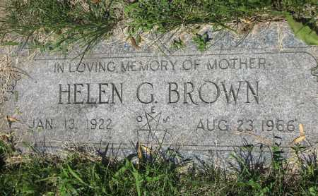 BROWN, HELEN GERTRUDE - Douglas County, Nebraska | HELEN GERTRUDE BROWN - Nebraska Gravestone Photos