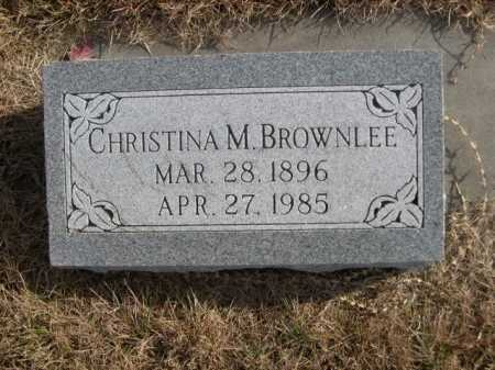 BROWNLEE, CHRISTINA M. - Douglas County, Nebraska | CHRISTINA M. BROWNLEE - Nebraska Gravestone Photos