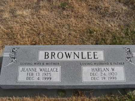 BROWNLEE, JEANNE WALLACE - Douglas County, Nebraska | JEANNE WALLACE BROWNLEE - Nebraska Gravestone Photos