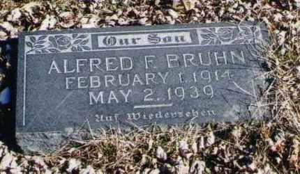 BRUHN, ALFRED F. - Douglas County, Nebraska | ALFRED F. BRUHN - Nebraska Gravestone Photos