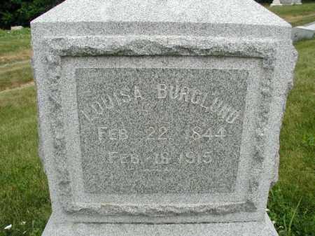BURGLUND, LOUISA - Douglas County, Nebraska | LOUISA BURGLUND - Nebraska Gravestone Photos