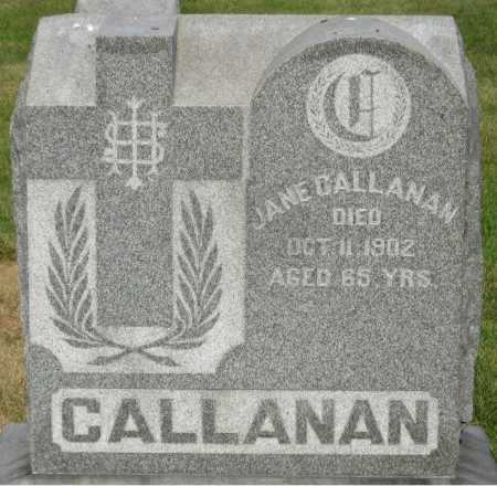 CALLANAN, JANE - Douglas County, Nebraska | JANE CALLANAN - Nebraska Gravestone Photos