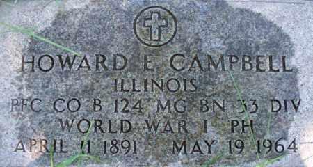 CAMPBELL, HOWARD EDWARD - Douglas County, Nebraska | HOWARD EDWARD CAMPBELL - Nebraska Gravestone Photos