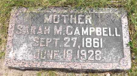 CAMPBELL, SARAH M. - Douglas County, Nebraska | SARAH M. CAMPBELL - Nebraska Gravestone Photos