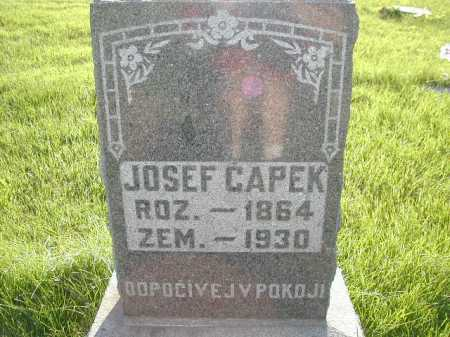 CAPEK, JOSEF - Douglas County, Nebraska | JOSEF CAPEK - Nebraska Gravestone Photos