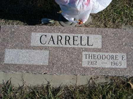 CARRELL, THEODORE E. - Douglas County, Nebraska | THEODORE E. CARRELL - Nebraska Gravestone Photos