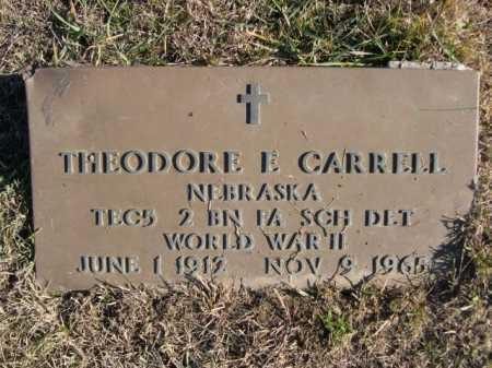 CARRELL, THEODORE E. - Douglas County, Nebraska   THEODORE E. CARRELL - Nebraska Gravestone Photos