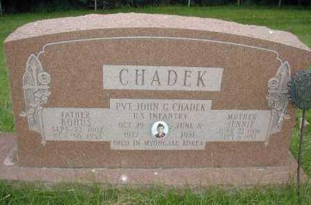 CHADEK, JOHN G - Douglas County, Nebraska   JOHN G CHADEK - Nebraska Gravestone Photos