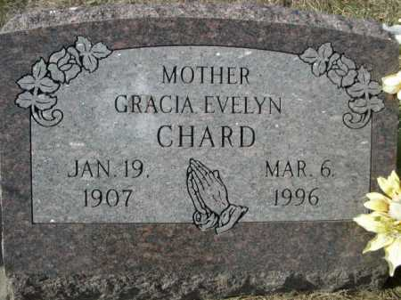 CHARD, GRACIA EVELYN - Douglas County, Nebraska | GRACIA EVELYN CHARD - Nebraska Gravestone Photos