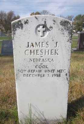 CHESHEK, JAMES J. - Douglas County, Nebraska | JAMES J. CHESHEK - Nebraska Gravestone Photos