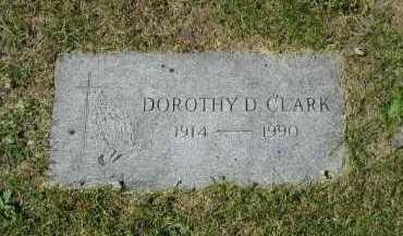 CLARK, DOROTHY D - Douglas County, Nebraska | DOROTHY D CLARK - Nebraska Gravestone Photos