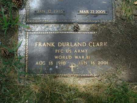 CLARK, FRANK DURLAND - Douglas County, Nebraska | FRANK DURLAND CLARK - Nebraska Gravestone Photos