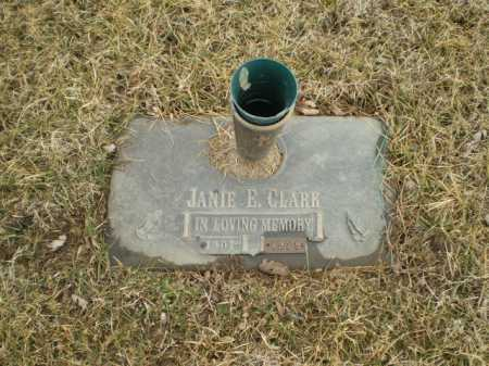 CLARK, JANIE E - Douglas County, Nebraska   JANIE E CLARK - Nebraska Gravestone Photos
