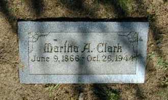 CLARK, MARTHA A - Douglas County, Nebraska   MARTHA A CLARK - Nebraska Gravestone Photos
