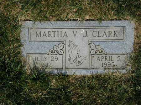 CLARK, MARTHA V J - Douglas County, Nebraska | MARTHA V J CLARK - Nebraska Gravestone Photos