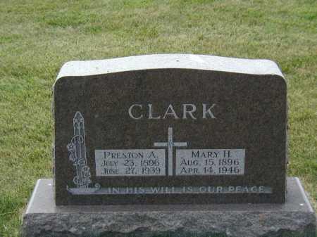 CLARK, PRESTON A - Douglas County, Nebraska | PRESTON A CLARK - Nebraska Gravestone Photos