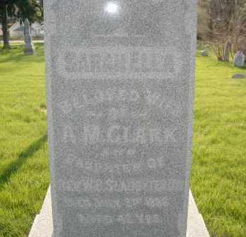 CLARK, SARAH ELLEN - Douglas County, Nebraska | SARAH ELLEN CLARK - Nebraska Gravestone Photos
