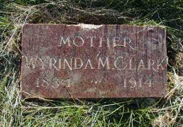 CLARK, WYRINDA M - Douglas County, Nebraska   WYRINDA M CLARK - Nebraska Gravestone Photos