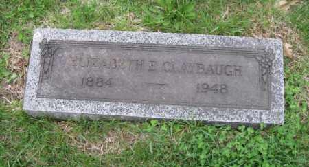 CLAYBAUGH, ELIZABETH E. - Douglas County, Nebraska | ELIZABETH E. CLAYBAUGH - Nebraska Gravestone Photos