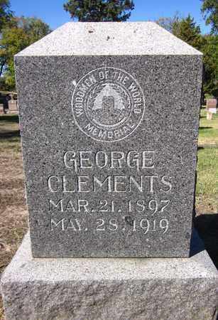 CLEMENTS, GEORGE - Douglas County, Nebraska | GEORGE CLEMENTS - Nebraska Gravestone Photos