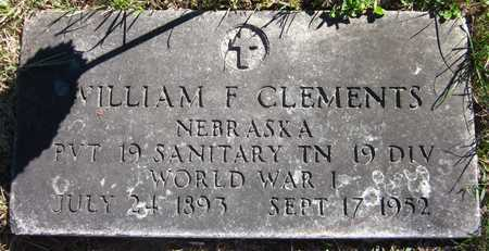 CLEMENTS, WILLIAM F. - Douglas County, Nebraska   WILLIAM F. CLEMENTS - Nebraska Gravestone Photos