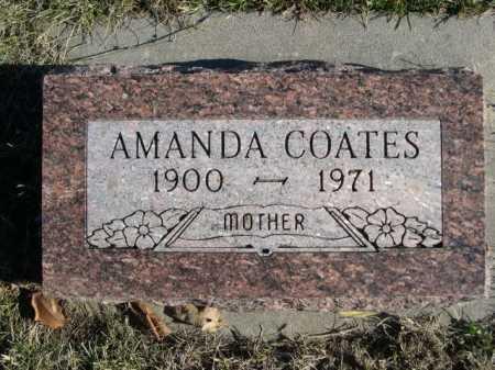 COATES, AMANDA - Douglas County, Nebraska   AMANDA COATES - Nebraska Gravestone Photos