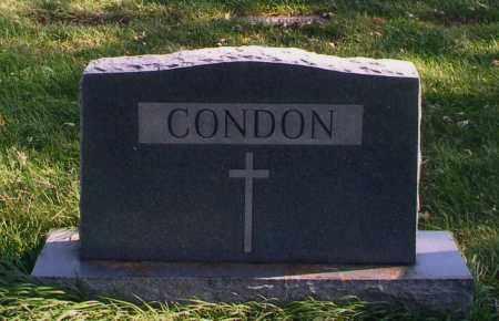 CONDON, MARKER - Douglas County, Nebraska | MARKER CONDON - Nebraska Gravestone Photos