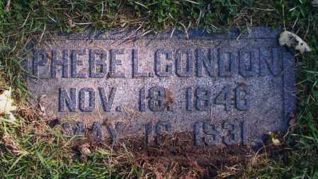 CONDON, PHEBE L. - Douglas County, Nebraska | PHEBE L. CONDON - Nebraska Gravestone Photos