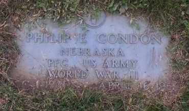 CONDON, PHILIP E. - Douglas County, Nebraska | PHILIP E. CONDON - Nebraska Gravestone Photos