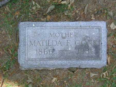 CONE, MATILDA F - Douglas County, Nebraska   MATILDA F CONE - Nebraska Gravestone Photos