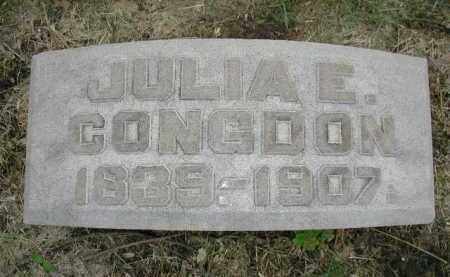 CONGDON, JULIA E. - Douglas County, Nebraska   JULIA E. CONGDON - Nebraska Gravestone Photos