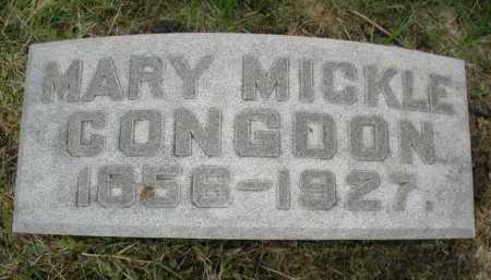 MICKLE CONGDON, MARY - Douglas County, Nebraska | MARY MICKLE CONGDON - Nebraska Gravestone Photos