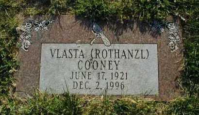 ROTHANZL COONEY, VLASTA - Douglas County, Nebraska | VLASTA ROTHANZL COONEY - Nebraska Gravestone Photos