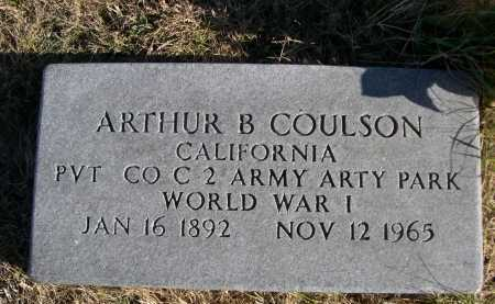COULSON, ARTHUR B. - Douglas County, Nebraska | ARTHUR B. COULSON - Nebraska Gravestone Photos