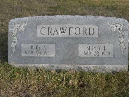 CRAWFORD, SIDNEY L. - Douglas County, Nebraska | SIDNEY L. CRAWFORD - Nebraska Gravestone Photos