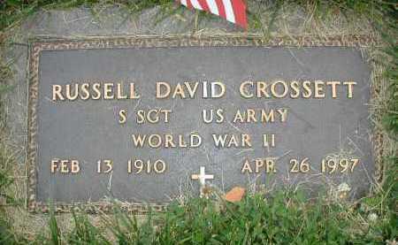 CROSSETT, RUSSELL DAVID - Douglas County, Nebraska | RUSSELL DAVID CROSSETT - Nebraska Gravestone Photos