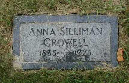 SILLIMAN CROWELL, ANNA - Douglas County, Nebraska | ANNA SILLIMAN CROWELL - Nebraska Gravestone Photos