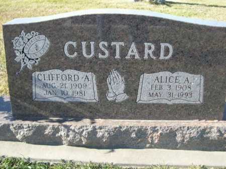 CUSTARD, CLIFFORD A. - Douglas County, Nebraska | CLIFFORD A. CUSTARD - Nebraska Gravestone Photos