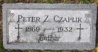 CZAPLIK, PETER Z. - Douglas County, Nebraska | PETER Z. CZAPLIK - Nebraska Gravestone Photos