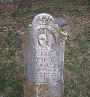 DECKER, CATHERINE S. - Douglas County, Nebraska | CATHERINE S. DECKER - Nebraska Gravestone Photos
