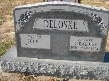 DELOSKE, JOHN J. - Douglas County, Nebraska | JOHN J. DELOSKE - Nebraska Gravestone Photos