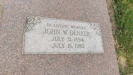 DENKER, JOHN W. (CLOSE UP) - Douglas County, Nebraska | JOHN W. (CLOSE UP) DENKER - Nebraska Gravestone Photos