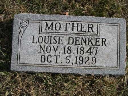 DENKER, LOUISE - Douglas County, Nebraska | LOUISE DENKER - Nebraska Gravestone Photos