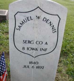 DENNIS, SAMUEL W - Douglas County, Nebraska | SAMUEL W DENNIS - Nebraska Gravestone Photos