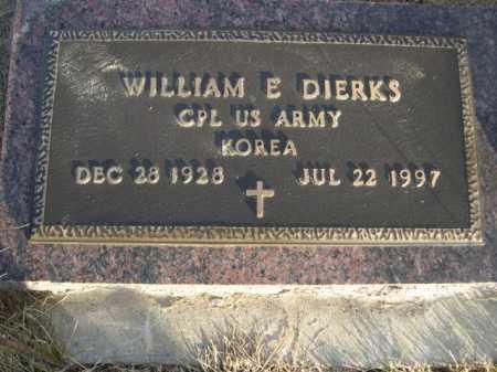 DIERKS, WILLIAM E. - Douglas County, Nebraska | WILLIAM E. DIERKS - Nebraska Gravestone Photos