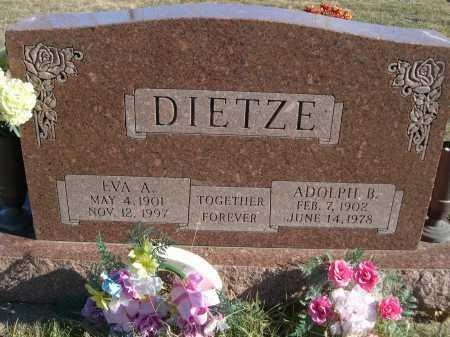 DIETZE, EVA A. - Douglas County, Nebraska | EVA A. DIETZE - Nebraska Gravestone Photos